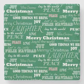 WeihnachtsRedewendungens-Typografie Steinuntersetzer