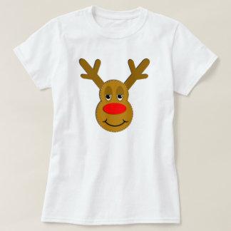 Weihnachtsren-Gesicht T-Shirt
