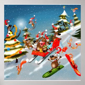 Weihnachtsren-Pferdeschlittenfahrt Poster