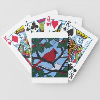 Weihnachtsrot-Kardinal Spielkarten