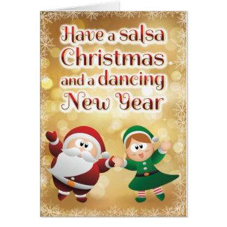 WeihnachtsSalsa-Karte Grußkarte