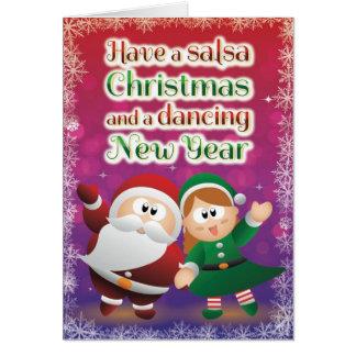 WeihnachtsSalsa-Karten-Rot Grußkarte