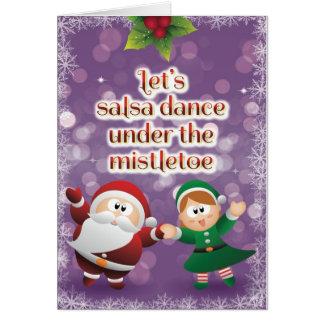 WeihnachtsSalsa-Mistelzweig-Karte Grußkarte