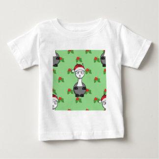 Weihnachtssankt-Alpaka Baby T-shirt