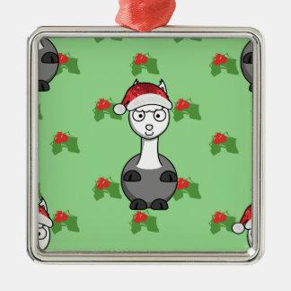 Weihnachtssankt-Alpaka Silbernes Ornament