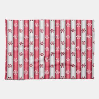 Weihnachtsschnee-Flocken Handtuch