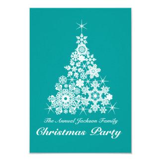 Weihnachtsschneeflocke-Baum-Party Einladung Karte