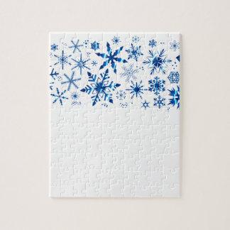 Weihnachtsschneeflocke-Fahne Puzzle