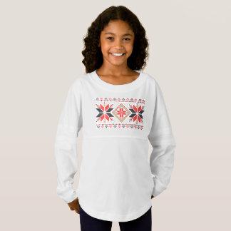 Weihnachtsschneeflocke-Feiertags-dekorative Trikot Shirt
