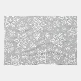 Weihnachtsschneeflocken Handtücher