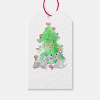 WeihnachtsScotties Geschenkanhänger