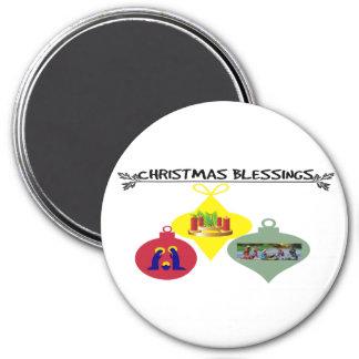 Weihnachtssegen Runder Magnet 7,6 Cm
