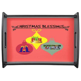 Weihnachtssegen Serviertablett