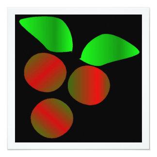 Weihnachtsstechpalme III Quadratische 13,3 Cm Einladungskarte
