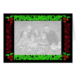Weihnachtsstechpalme im Rot u. in der Green Card Karte