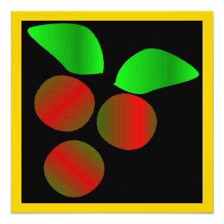 Weihnachtsstechpalme IV Quadratische 13,3 Cm Einladungskarte