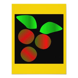 Weihnachtsstechpalme IV 10,8 X 14 Cm Einladungskarte