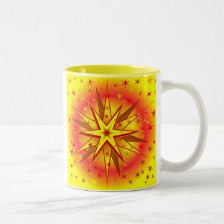 Weihnachtsstern-Tasse Zweifarbige Tasse