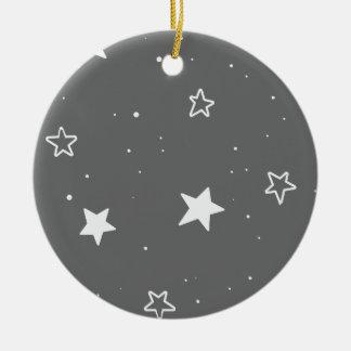 Weihnachtsstern- u. -schneemuster - keramik ornament