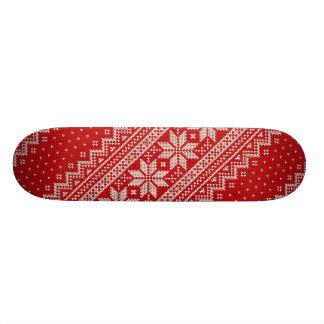 Weihnachtsstrickjacke-strickendes Muster - ROT 21,6 Cm Skateboard Deck