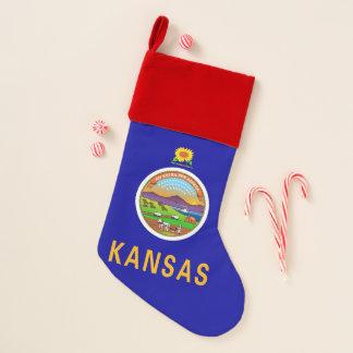 WeihnachtsStrumpf-Flagge von Kansas, USA Weihnachtsstrumpf