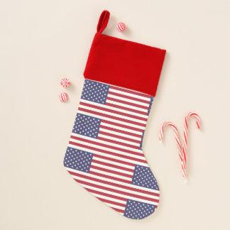 WeihnachtsStrümpfe mit Flagge von USA