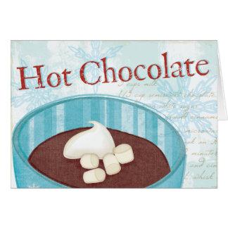 WeihnachtsTasse mit heißer Schokolade Grußkarte