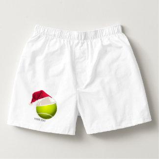 Weihnachtstennis-Ball-Weihnachtsmannmütze Herren-Boxershorts