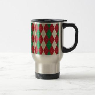 WeihnachtsThemed Rauten-Muster Girly Trendy Reisebecher