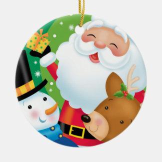Weihnachtstrio-Verzierung Keramik Ornament