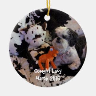 Weihnachtsverzierung addieren Foto Keramik Ornament