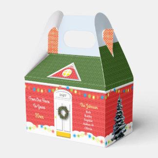 Weihnachtsviktorianisches Zuhause-personalisierter Geschenkschachtel