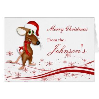 Weihnachtsweihnachtsmann-Maus Karte