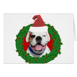 Weihnachtsweiß-Boxer Karte