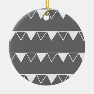 Weihnachtswimpel-Fahnenmuster - Keramik Ornament