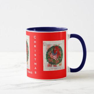 Weihnachtswreath-Fenster-Tasse Tasse
