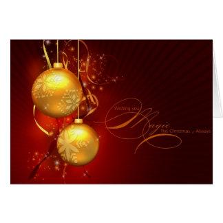 Weihnachtswünsche Grußkarte