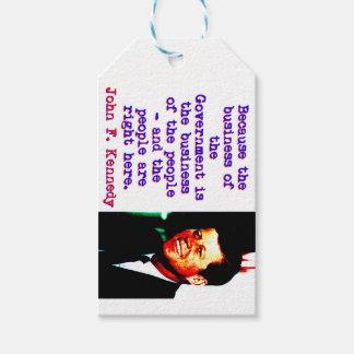 Weil das Geschäft - John Kennedy Geschenkanhänger