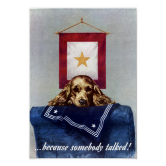 Weil jemand sprach -- WW2 Poster