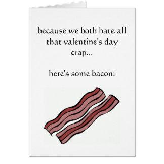 Weil wir beide Valentinstagmisten hassen Grußkarte