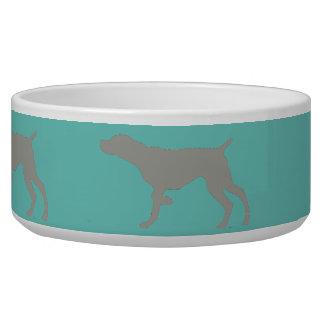 Weimaraner auf Punkt-Haustier-Schüssel Wassernäpfe Für Hunde