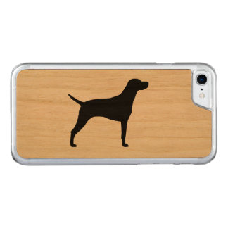 Weimaraner Silhouette Carved iPhone 8/7 Hülle
