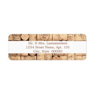 Wein bekorkt Adressen-Etiketten