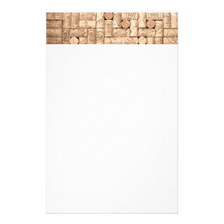 Wein bekorkt Briefpapier