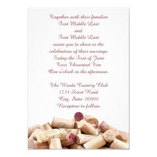 Wein bekorkt Hochzeits-Einladungen 12,7 X 17,8 Cm Einladungskarte