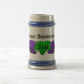 Wein-Jahrestag Stein 31. Bierkrug