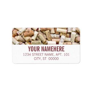Wein-Korken Adressetiketten