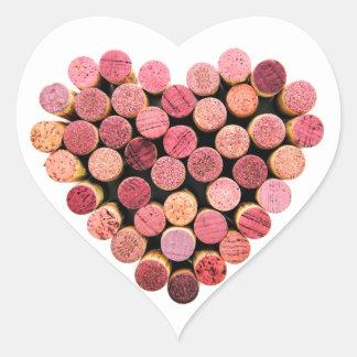 Wein-Korken-Herz-Aufkleber Herz Sticker