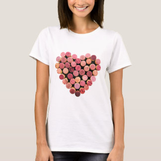 Wein-Korken-Herz-Shirt T-Shirt