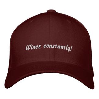 Wein-ständig lustiger gestickter Hut Baseballkappe